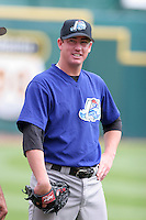 Norfolk Tides Blake McGinley during an International League game at Dunn Tire Park on August 6, 2006 in Buffalo, New York.  (Mike Janes/Four Seam Images)