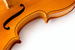 Part of violin on white background - abstract music concept - isolated with clipping path
