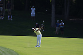 4th June 2017, Dublin, OH, USA;  Hideki Matsuyama of Japan hits an approach shot on the ninth hole during the final round of The Memorial Tournament  at the Muirfield Village Golf Club in Dublin, OH.