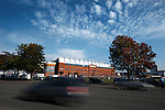 Ibrox Stadium in the autumn sunshine