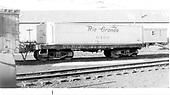 End side view of water car #0469 (ex Unitah) at Durango.<br /> D&amp;RGW  Durango, CO  Taken by Maxwell, John W. - 3/18/1966
