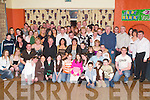 CELEBRATIons: Celebrating her 21st birthday and engagement to Thomas Donegan, in the White Sands Hotel, Ballyheigue, on Friday evening was Laura Dineen, Ballyheigue (seated front sixth from left) along with family and friends..