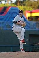 Frederick Keys pitcher John Means (25) on the mound during a game against the Myrtle Beach Pelicans at Ticketreturn.com Field at Pelicans Ballpark on April 8, 2016 in Myrtle Beach, South Carolina. Frederick defeated Myrtle Beach 5-2. (Robert Gurganus/Four Seam Images)