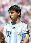 22 July 2007: Argentina's Sergio Aguero. At the National Soccer Stadium, also known as BMO Field, in Toronto, Ontario, Canada. Argentina's Under-20 Men's National Team defeated the Czech Republic's Under-20 Men's National Team 2-1 in the championship match of the FIFA U-20 World Cup Canada 2007 tournament.