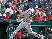 New York Mets shortstop Jose Reyes (7) hits his second home run of the game in the eighth inning against the Washington Nationals at Nationals Park in Washington, D.C. on Wednesday, August 1, 2018.  The Nationals won the game 5 - 3.<br /> Credit: Ron Sachs / CNP<br /> (RESTRICTION: NO New York or New Jersey Newspapers or newspapers within a 75 mile radius of New York City)