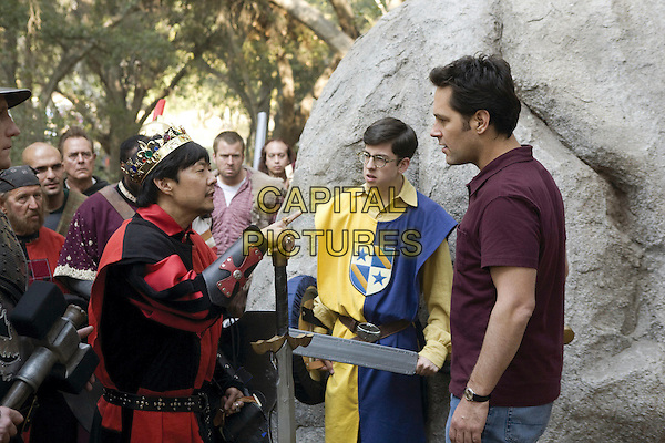 CHRISTOPHER MINTZ-PLASSE & PAUL RUDD.in Role Models.*Filmstill - Editorial Use Only*.CAP/FB.Supplied by Capital Pictures.