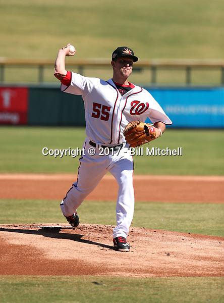 Kyle McGowin - Mesa Solar Sox - 2017 Arizona Fall League (Bill Mitchell)