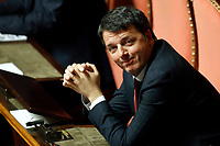 Former Premier Matteo Renzi<br /> Rome December 19th 2018. Senate. Speech of the Italian Premier about the results of the negotiation with the European Union about the  budget plan.<br /> Foto Samantha Zucchi Insidefoto