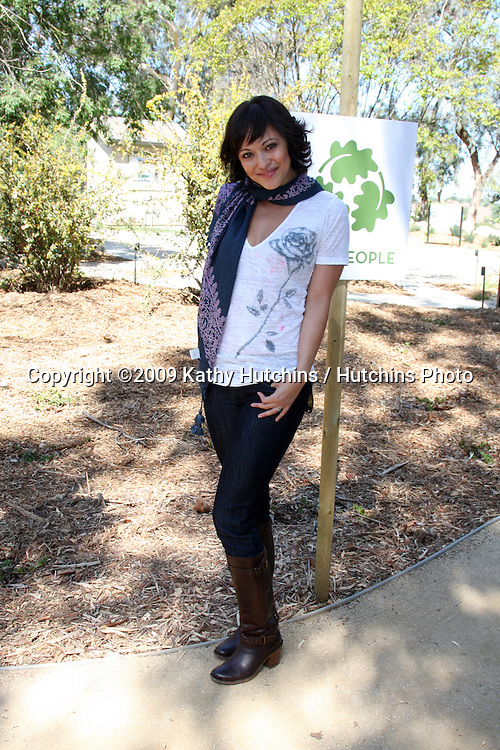 Marisa Ramirez  arriving at the Green Hollywood Tree Planting at TreePeople's Headquarters in Coldwater Canyon Park  in Los Angeles, CA on April 16, 2009.©2009 Kathy Hutchins / Hutchins Photo....                .