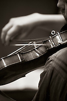 """Fiddle, """"Edge of Chaos Orchestra"""" recording at the Blue Coconut Club, Pulborough, West Sussex."""