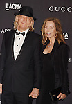 LOS ANGELES, CA - NOVEMBER 07: Musician Joe Walsh (L) and wife Marjorie Bach attend LACMA 2015 Art+Film Gala Honoring James Turrell and Alejandro G Iñárritu, Presented by Gucci at LACMA on November 7, 2015 in Los Angeles, California.