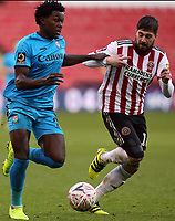 /Kieron Freeman of Sheffield United and Ephron Mason-Clark of Barnet during Sheffield United vs Barnet, Emirates FA Cup Football at Bramall Lane on 6th January 2019