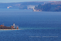 Grand Island East Channel and Pictured Rocks lighthouses in the Upper Peninsula of Michigan