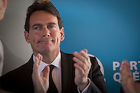 PQ Leadership candidate Pierre-Karl Peladeau is pictured during the presentation of parti Quebecois candidates for the upcoming byelection Tuesday May 5, 2015.