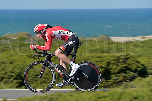 19.02.2016. Sagres, Portual.  BROECKX Stig (BEL) Rider of LOTTO SOUDAL in action during stage 3 of the 42nd Tour of Algarve cycling race, an individual time trial of 18km, with start and finish in Sagres on February 19, 2016 in Sagres, Portugal.