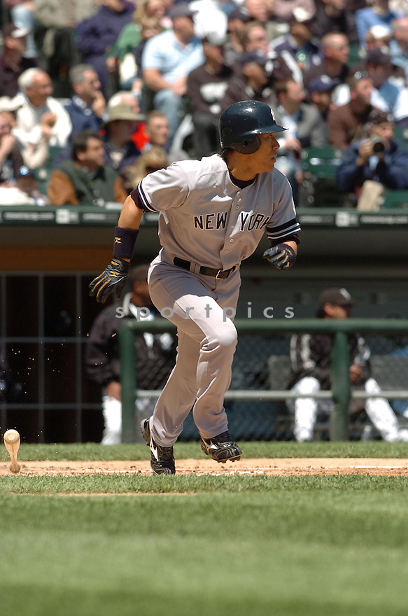 HIDEKI MATSUI, of the New York Yankees, in action during the Yankees game against the Chicago White Sox in Chicago, Illinois  on May 17, 2007...White Sox win 4-1...DAVID DUROCHIK / SPORTPICS..