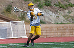 San Diego, CA 05/25/13 - Antonio Mendez (Parker #3) in action during the CIF San Diego Section Boys Division 2 Lacrosse Championship game.  Parker defeated Del Norte 12-4 for the 2013 title.