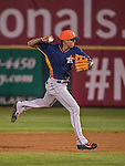 10 March 2014: Houston Astros infielder Carlos Correa in action during a Spring Training game against the Washington Nationals at Space Coast Stadium in Viera, Florida. The Astros defeated the Nationals 7-4 in Grapefruit League play. Mandatory Credit: Ed Wolfstein Photo *** RAW (NEF) Image File Available ***
