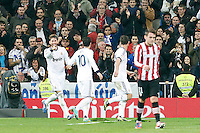 Real Madrid CF vs Athletic Club de Bilbao (5-1) at Santiago Bernabeu stadium. The picture shows Sergio Ramos and Mesut Ozil. November 17, 2012. (ALTERPHOTOS/Caro Marin) NortePhoto