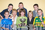 0107-0115.PROUD: The Glenflesk under 14 quiz team who won the All Ireland Community Games in Mosney on Saturday 12th May. Front l-r: Kieran Looney, Marisse Doherty and Oisin OCallaghan. Back l-r: Darragh Kelliher, Breda McCarthy (Coach), Denis Doherty, Karena McCarthy and Ashley Campion.