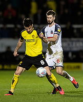 Bolton Wanderers' Luke Murphy competing with Burton Albion's Scott Fraser (left) <br /> <br /> Photographer Andrew Kearns/CameraSport<br /> <br /> The Premier League - Leicester City v Aston Villa - Monday 9th March 2020 - King Power Stadium - Leicester<br /> <br /> World Copyright © 2020 CameraSport. All rights reserved. 43 Linden Ave. Countesthorpe. Leicester. England. LE8 5PG - Tel: +44 (0) 116 277 4147 - admin@camerasport.com - www.camerasport.com