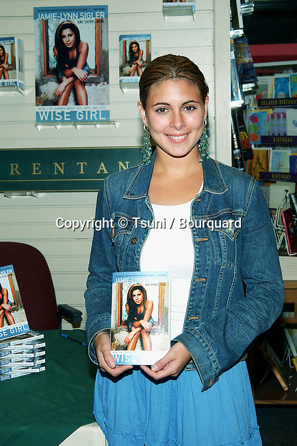 "Jamie Lynn Sigler from the Soprano was signing her book ""Wise Girl"". A book about her experence and battle about eating disorder. She is the spokesperson for the National Eating Disorders Association. August 14, 2002.            -            SiglerJamieLynn_BookSign05.jpg"