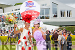 Tasha O'Connor from Limerick, winner of the Most Stylish Hat and winner of the Best Dressed Lady, Edel Crowley from Kenmare on ladies day at the Killarney Races yesterday