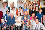 New Arrival<br /> ----------------<br /> John&amp;Hannah Kennedy,Castlegregory (seated centre) who Christened their new baby Jerry in St Mary's church,Castlegregory by Fr Michael Hussey and after to a family celebration in the Railway Tavern,Camp last Saturday evening