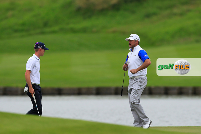 Lee Westwood (ENG) on the 15th green during Round 4 of the 100th Open de France, played at Le Golf National, Guyancourt, Paris, France. 03/07/2016. <br /> Picture: Thos Caffrey | Golffile<br /> <br /> All photos usage must carry mandatory copyright credit   (&copy; Golffile | Thos Caffrey)
