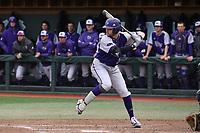 CHAPEL HILL, NC - FEBRUARY 19: Sam Zayicek #28 of High Point University waits for a pitch during a game between High Point and North Carolina at Boshamer Stadium on February 19, 2020 in Chapel Hill, North Carolina.