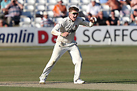 Dom Bess of Somerset celebrates taking the wicket of Michael Pepper during Essex CCC vs Somerset CCC, Specsavers County Championship Division 1 Cricket at The Cloudfm County Ground on 25th June 2018