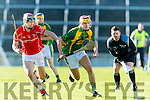 Jordan Brick of Kilmoyley in action against Lorcan Lyons of Monaleen at the Gaelic Grounds, Limerick<br /> <br /> Photo: Oisin McHugh True Media