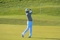 Rafa Cabrera-Bello (ESP) on the 14th fairway during Round 2 of the 2015 Alfred Dunhill Links Championship at Kingsbarns in Scotland on 2/10/15.<br /> Picture: Thos Caffrey | Golffile