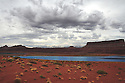 POTASH MINING POND<br /> NEAR CANYONLANDS NATIONAL PARK AND MOAB, UTAH