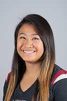STANFORD, CA - Sophia Lee of Stanford University Women's Gymnastics.