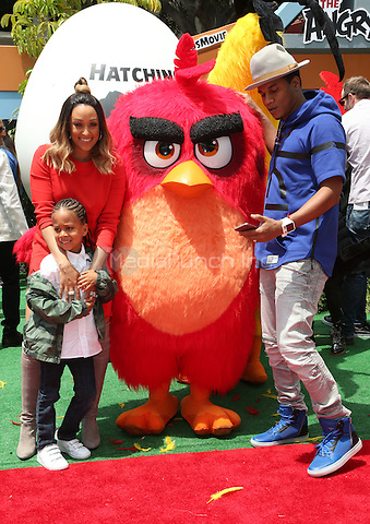 "Westwood, CA - May 07 Tia Mowry, Cory Hardrict, Cree Taylor Hardrict Attending Premiere Of Sony Pictures' ""The Angry Birds Movie"" at Regency Village Theatre On May 07, 2016. Credit: RTNSadou/MediaPunch"