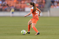 Houston, TX - Friday May 20, 2016: Allysha Chapman (15) of the Houston Dash. The Orlando Pride defeated the Houston Dash 1-0 during a regular season National Women's Soccer League (NWSL) match at BBVA Compass Stadium.