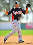 4 March 2011: Atlanta Braves infielder Diory Hernandez warms up prior to a Spring Training game against the Washington Nationals at Space Coast Stadium in Viera, Florida. The Braves defeated the Nationals 6-4 in Grapefruit League action. Mandatory Credit: Ed Wolfstein Photo