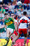 Adam Donoghue Kerry in action against Oran McGill Derry in the All-Ireland Minor Footballl Final in Croke Park on Sunday.