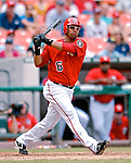 5 August 2007: Washington Nationals infielder D'Angelo Jimenez in action against the St. Louis Cardinals at RFK Stadium in Washington, DC. The Nationals defeated the Cardinals 6-3 to sweep their 3-game series...Mandatory Photo Credit: Ed Wolfstein Photo