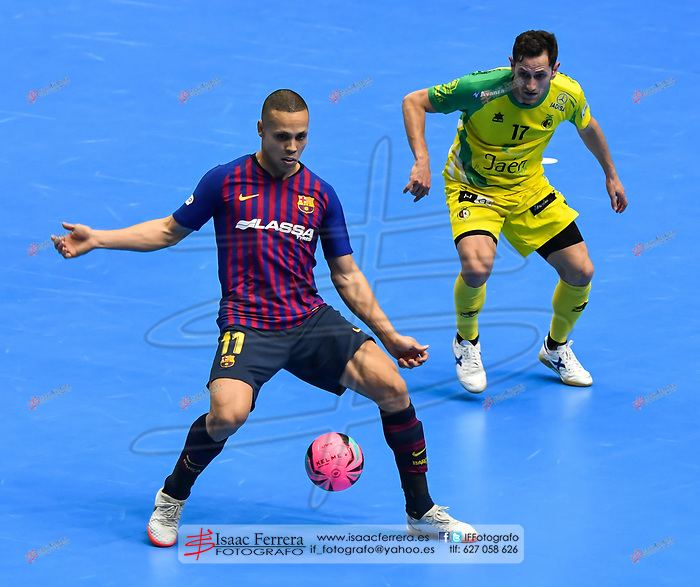 XXX Copa de España de Futbol Sala - LNFS <br /> Valencia 2019.<br /> <br /> Barça Lassa 3vs0 Jaen Paraiso Interior<br /> <br /> Pabellon de la Fuente de San Luis (Valencia - España)<br /> <br /> 1 de marzo de 2019.