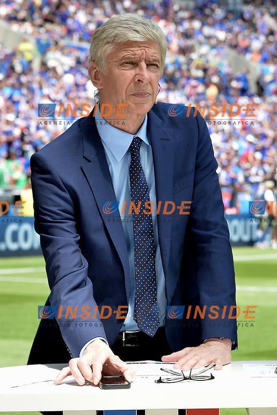 Arsene Wenger - Bein Sport <br /> Lyon 26-06-2016 Stade de Lyon Football Euro2016 France - Ireland / Francia - Irlanda Round of 16. Foto Frederic Chambert / Panoramic / Insidefoto