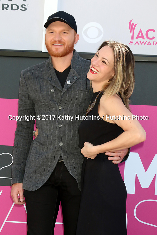 LAS VEGAS - APR 2:  Eric Paslay, Natalie Harker at the Academy of Country Music Awards 2017 at T-Mobile Arena on April 2, 2017 in Las Vegas, NV