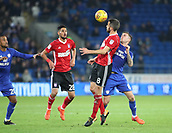 31st October 2017, Cardiff City Stadium, Cardiff, Wales; EFL Championship football, Cardiff City versus Ipswich Town; Cole Skuse of Ipswich Town and Joe Ralls of Cardiff City battle for the ball