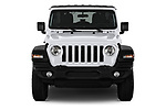 Car photography straight front view of a 2020 Jeep Wrangler Unlimited Sport S 5 Door SUV