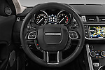 Car pictures of steering wheel view of a 2016 Land Rover Range Rover Evoque HSE 5 Door Suv Steering Wheel