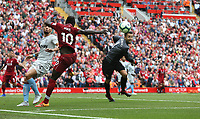 West Ham United's Lukasz Fabianski tips the ball past Liverpool's Sadio Mane<br /> <br /> Photographer Rob Newell/CameraSport<br /> <br /> The Premier League - Liverpool v West Ham United - Sunday August 12th 2018 - Anfield - Liverpool<br /> <br /> World Copyright &copy; 2018 CameraSport. All rights reserved. 43 Linden Ave. Countesthorpe. Leicester. England. LE8 5PG - Tel: +44 (0) 116 277 4147 - admin@camerasport.com - www.camerasport.com