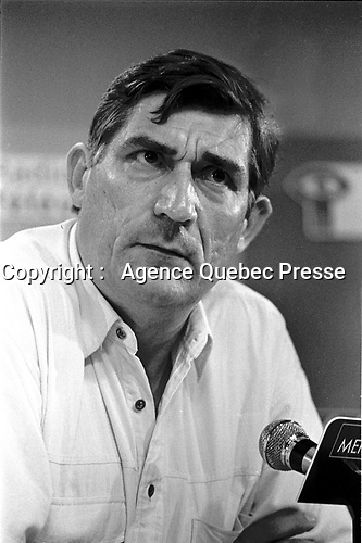 Montreal, Canada - File Photo - French filmmaker Jean-Claude Brisseau (R) news conference at the World Film Festival, August 31, 1988 for his movie DE BRUIT ET DE FUREUR.<br /> <br /> PHOTO :  Agence Quebec Presse <br /> Montreal, Canada - File Photo - French filmmaker Jean-Claude Brisseau (R) news conference at the World Film Festival, August 31, 1988 for his movie DE BRUIT ET DE FUREUR.<br /> <br /> PHOTO :  Agence Quebec Presse