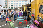 BRUSSELS - BELGIUM - 31 July 2016 -- Brussels city - Weekly Sunday market on Place Jourdan - Hotel Sofitel in the background. -- PHOTO: Juha ROININEN / EUP-IMAGES Käyttöoikeus: vain ET brändi