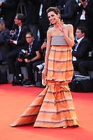Marianna Di Martino poses on the red carpet to present the movie 'Spotlight' during the 72nd Venice Film Festival at the Palazzo Del Cinema, in Venice, September 3, 2015. <br /> UPDATE IMAGES PRESS/Stephen Richie